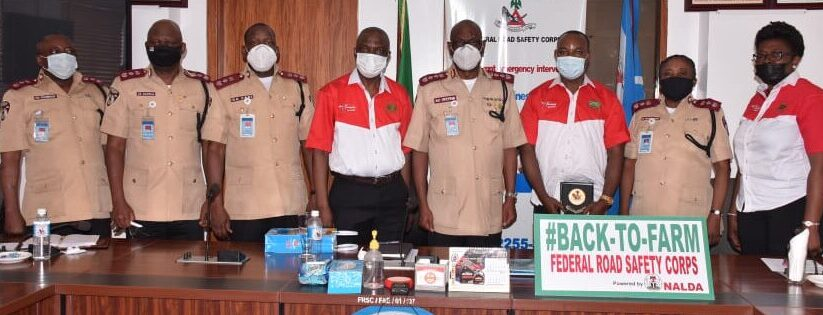 Courtesy visit to the Corps Marshal, by the MD/CEO of CVIS Prince Segun Obayendo.